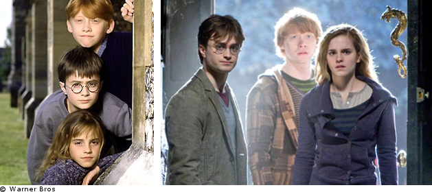 Harry, Ron et Hermione