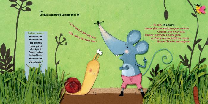 Les Contes De La Petite Souris Oh Hisse Petit Escargot